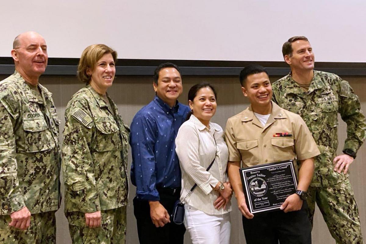Jean Gonzales Receives Navy Honor